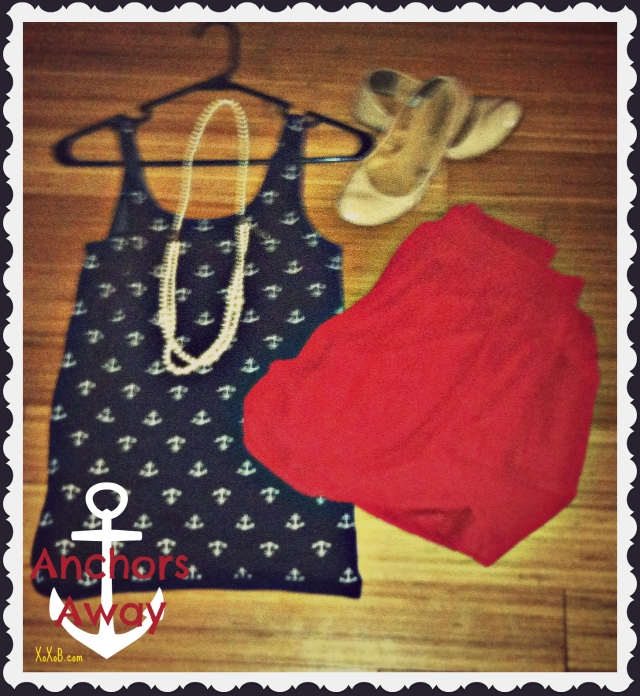Anchor Tank: The Limited $30, Skirt&Necklace: F21 $15/$6