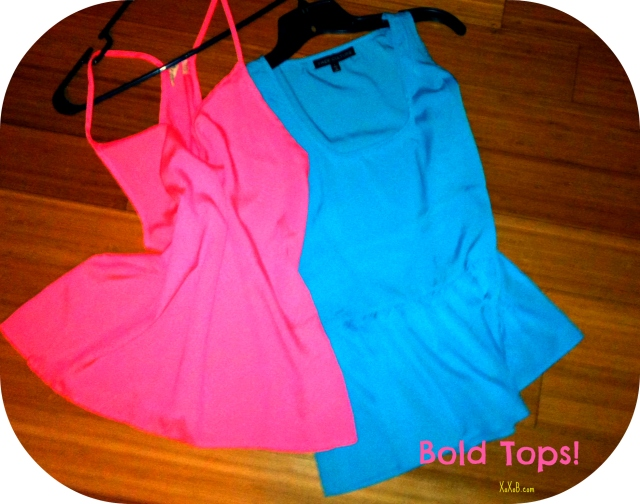 Brightly Colored Tops: (Both) Francesca's Collections $28