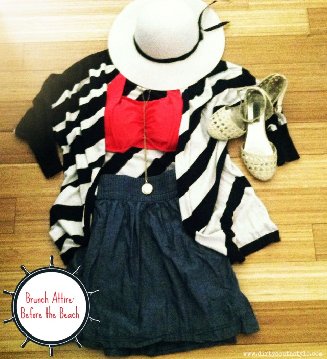 Swimsuit: Forever 21 Skirt: Target Flyaway: The Limited Flats: Steve Madden Hat: CottonOn