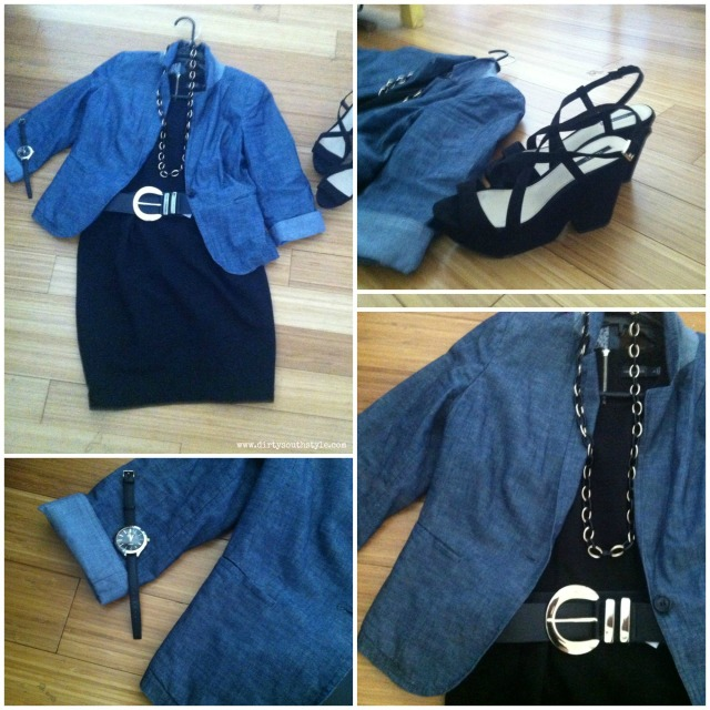 Dress&Blazer: The Limited Belt, Necklace, Wedges: Forever21 Watch: Francesca's Collections