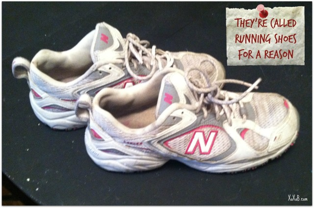 SideNote: these are really comfy shoes for exercising in. New Balance.
