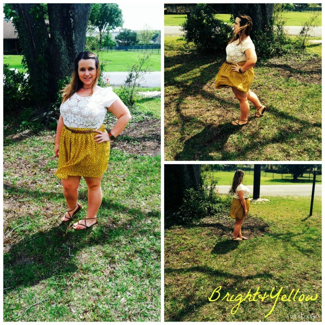 Skirt: Thifted, Top&Watch: Francesca's Collections, Sandals: Merona by Target