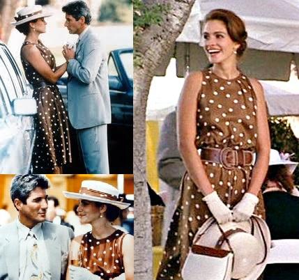 pretty-woman-brown-dress