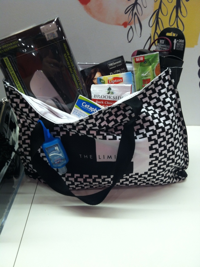 Free Tote filled with Goodies for signing up for The Limited Card!