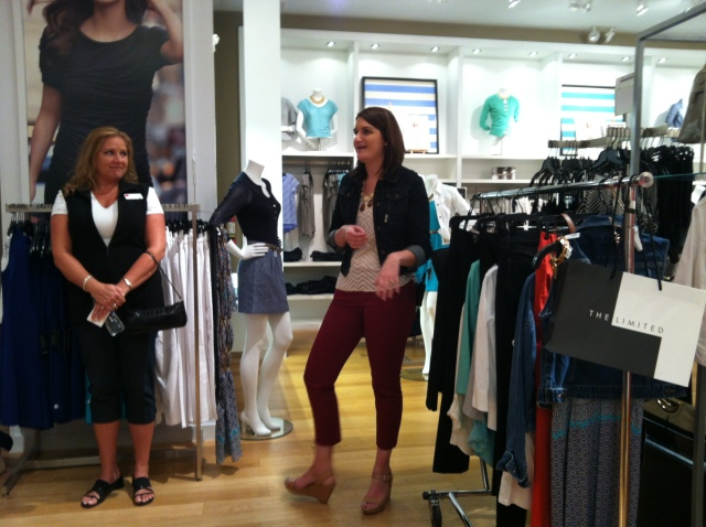 Sarah, giving a great presentation on work wear!
