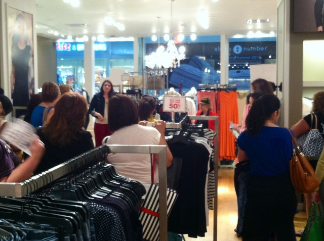 Sarah Baylis -(Brandon Store Manager) and I giving a presentation on the 7 essential pieces every woman needs in her wardrobe