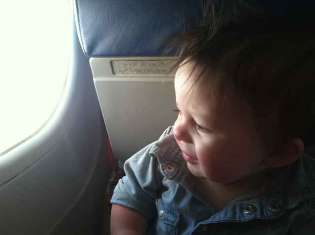 Looking out the plane window!!